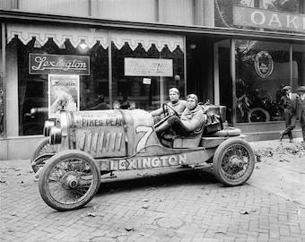Pike's Peak Race Car, 1922. Vintage Photo Digital Download. Black & White Photograph. Racing, Automobiles, Cars, 1920s, 20s, Historical.