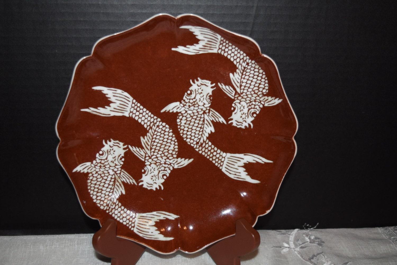 ACF Japanese Porcelain Ware Plate Vintage Imari Meiji Octagon