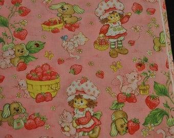 Classic Strawberry Shortcake Baby Blanket - cotton