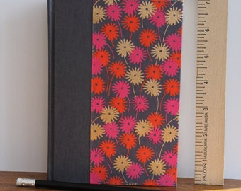 Journal or Diary  Medium with Indian Print Flower Field