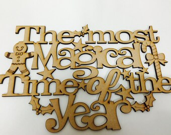 The most magical time of the year christmas plaque