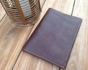 Refillable A4 Brown Leather journal cover, notebook cover, FREE personalisation, sketchbook cover,  leather folio,  refillable