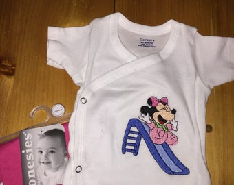Custom embroidered infant shirt set