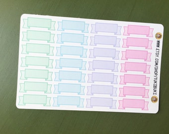 Ribbon Banner Planner Stickers