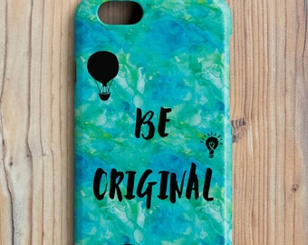 Be Original Cover for iPhone Smartphone, Watercolor Series
