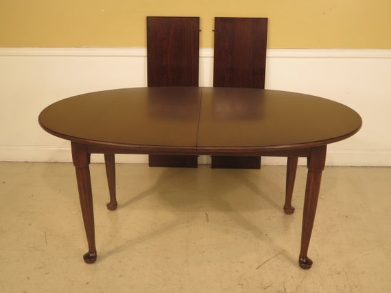 38470e stickley solid cherry oval dining room by