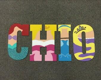 Disney Chi Omega Letters