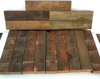 Reclaimed wood 2x3 Fence Backing Pieces - Redwood (14pk)