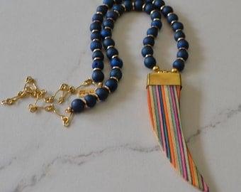 SALE- Rainbow Boho Necklace