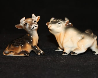 petite cow and bull salt and pepper shakers