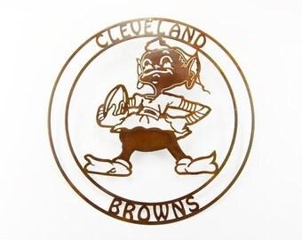 Cleveland Browns vintage metal art