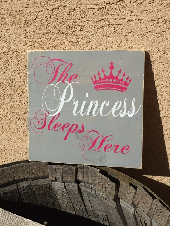 Little girl room sign babyroom sign above the crib sign for Signs for little girl rooms