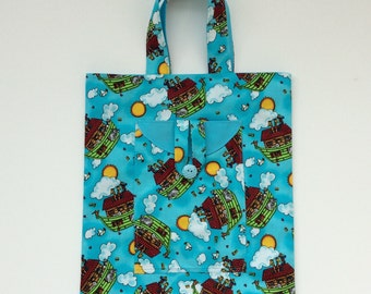 Tote for toys, Noah's Ark toy bag, nursery accessory, toy travel tote,  tote bag, kids toy tote, Childs novelty bag,  Gift for baby , toybag