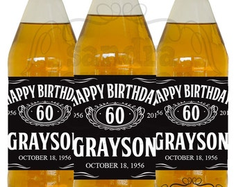 20 30 40 50 60 70 80 Personalized 40 oz Beer Bottle Label | Birthday | Party - DIGITAL FILE