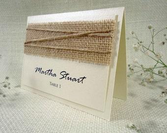 Burlap Wedding Place Cards Name Place Cards Holders for Weddings Burlap Place Cards