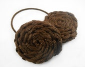 Galactic Princess Headband Earmuffs ;)!! Hand Braided Yarn Earmuffs, Running Headband, Princess Leia Buns, Princess Leia Hair