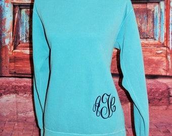 Monogrammed Comfort Colors Sweatshirt/Fleece!  Personalized!