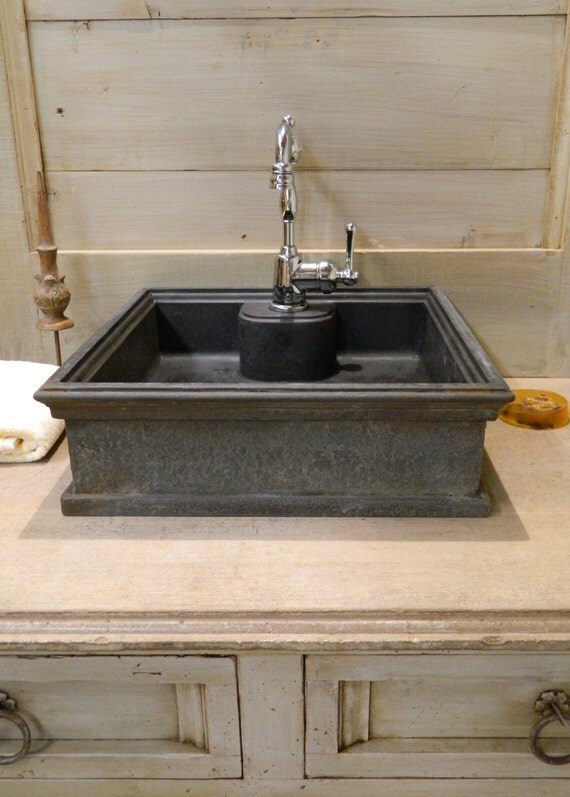 On sale vessel sink 5 cast iron style concrete sink by for Are vessel sinks out of style