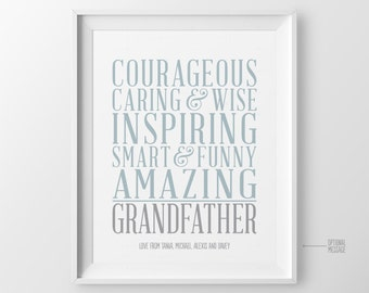 Christmas Gift for Grandpa Gift for Grandfather Gift Personalized Gift Great Grandparents Sign Gift from Grandson Gift from Grandkids Gift