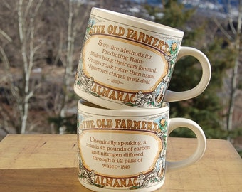 Westwood Mugs Farmers Almanac Set of 2