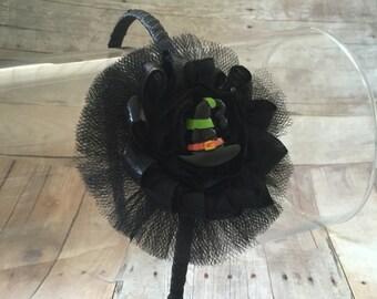 Witch Hat Headband, Halloween Headband, Witch Hat, Halloween Witch Hat