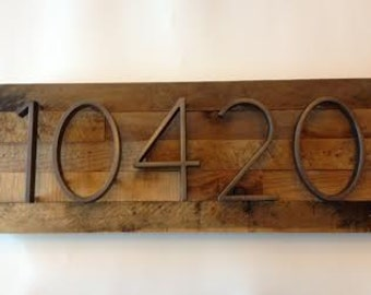 Reclaimed wood Address Plaque - rustic, custom, personalized, house numbers, address sign, cabin, cottage, housewarming gift, address plate