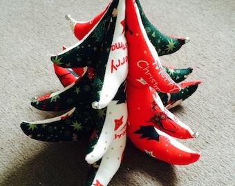 3d fabric Christmas tree.
