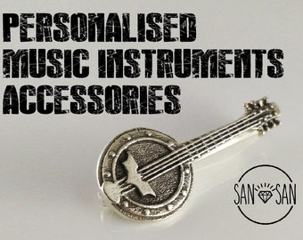 PERSONALIZED music instruments accessories in silver