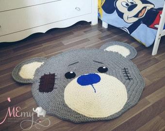 Kids Bear Rug , Childrens Rugs , Rugs For Nursery , Kids Carpet , Kids Play Mat , Nursery Decor , Kids Rugs