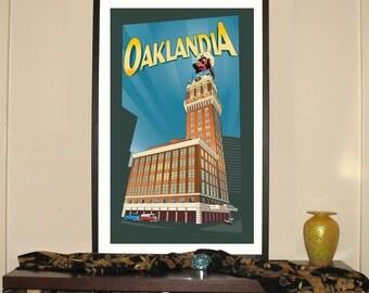 "Oaklandia 13""w x 30""h Giclee"