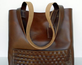 Brown Leather Tote Bag - Distressed Leather Bag -  Brown Leather Bag,Brown Leather Tote