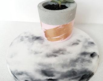 Marble Concrete Tray