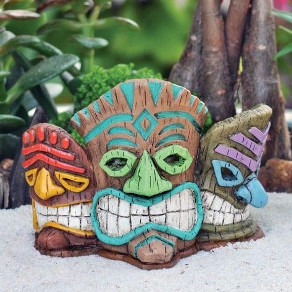 Light Up Tiki Mask Beach Wedding Cake Topper Supplies