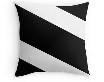 Black White Stripes Pillow, Black White Pillow, Black White Decorative Pillow, Black White Decor, Black White Room, Black White Bedding