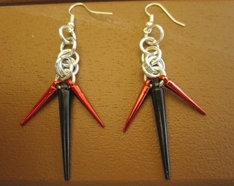Order of the Black Rose or The Order Spiky Drop Earrings