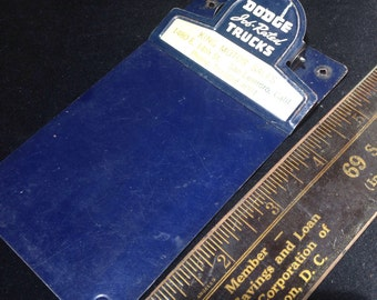 vintage mini metal clipboards w advertising