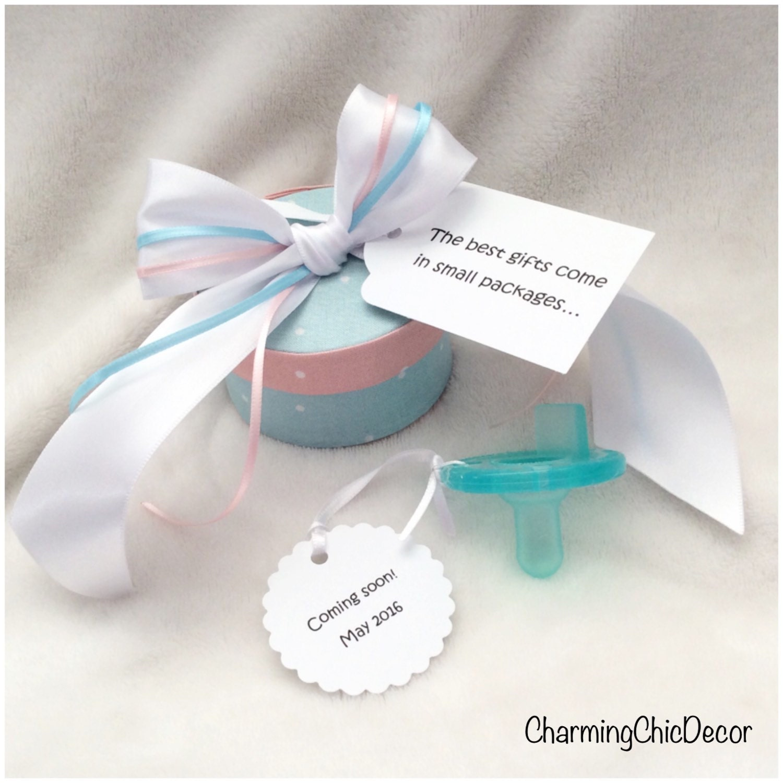 Pregnancy Announcement Idea to Aunt Binkie Box Cute – Baby Announcement Gift Ideas