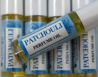 Patchouli Perfume Oil - Patchouli Essential Oil Perfume - Roll On Perfume - Natural Perfume - Hippie Scent - Gift for Her - Vegan Perfume
