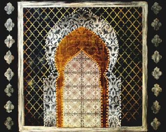 Moroccan Door Midnight Art Print