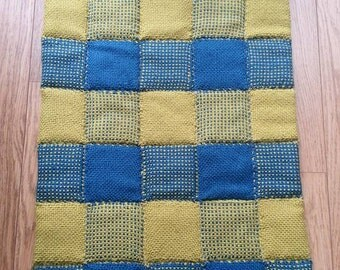 Hand woven and Quilted Alpaca wool Baby Blanket