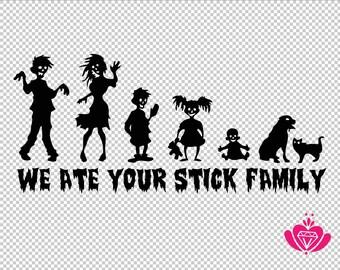 Zombie Family Sticker