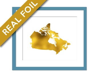 Canada Map Etsy - Canada in the world map