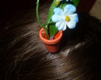 flowerpot hair grip