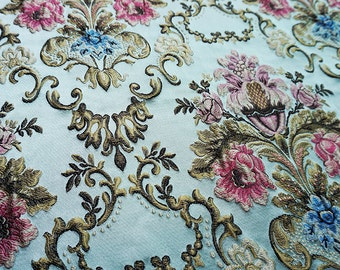 1 yard width 54.33 inches 3D brocade fabric ,DIY dor dress ,for dress material,Floral fabric width 138 cm (150-6)