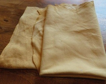 2 large chamois leather skin shammy approx 3 sq ft each