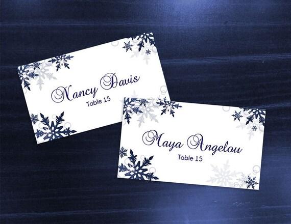 DIY Printable Wedding Place Card Template Editable MS Word