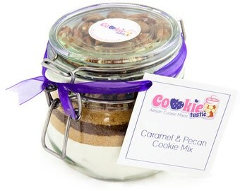 Cookie Mix Jar - Caramel & Pecan Cookie Mix - to make up to 16 delicious freshly baked cookies