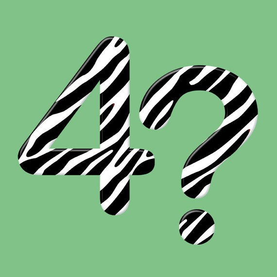 Zebra pattern alphabet clipart animal print font by LucyPlanet