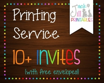 Printing Service for 10,12,14,16,18 Invites! (Select from 2 Printing Options w/ 5 Different Quantities)
