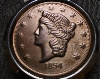 1854 Kellog & Co. Coin Money Clip